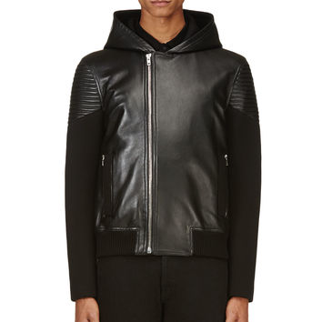 Givenchy Black Lambskin And Neoprene Jacket