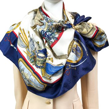 Le Geographe Hermes Silk Jacquard Scarf Early Issue