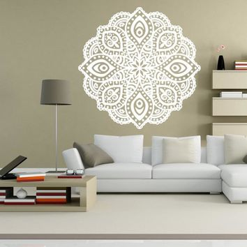 Mandala Wall Stickers DIY Wall Stickers Home Decor Indian Hindu Buddha Wall Decals Home Decoration B5