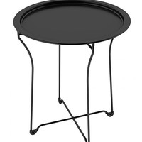 Dar Metal Tray Side Table Black One Size For Women 27432210001