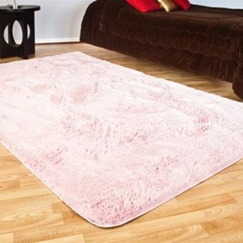 College Plush Rug Baby Pink is a dorm sized rug made for college girls dorm rooms that want comfort style design and the hottest dorm room colors