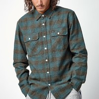 Brixton Bowery Plaid Flannel Long Sleeve Button Up Shirt at PacSun.com