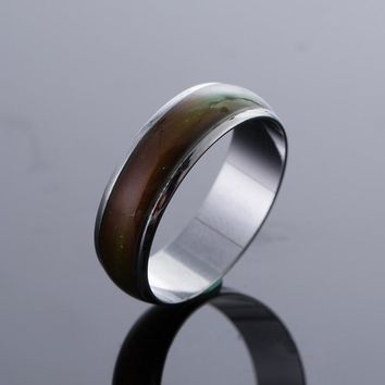 Personality Stainless Changing Color Mood Rings Feeling Emotion Temperature Ring Jewelry For Men Women Party Christmas Gift