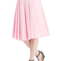ModCloth Vintage Inspired Long High Waist Whimsical Wonder Skirt in Bubblegum