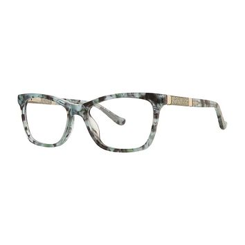 Kensie - Flare 48mm Green Marble Eyeglasses / Demo Lenses