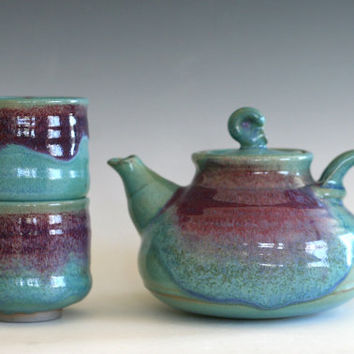Ceramic Tea Set, Handmade Stoneware Teapot, Ceramic Teapot, ceramics and pottery, pottery teapot, wheel thrown teapot
