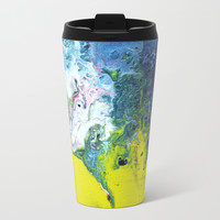 Fluid Art Painting Metal Travel Mug by mariameesterart