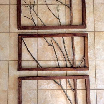 3 Frame Branch Art | Wall Decor | Wall Art