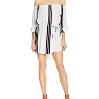 Faithfull the BrandRepeat Off-the-Shoulder Dress