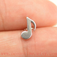 Tragus Earring Jewelry,little music note piercing jewelry, ear Helix Cartilage jewelry,music note earring,oceantime