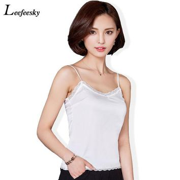 DCCKJG2 2016 Summer Style Sexy Women Vest Casual Slim Sleeveless O-Neck Lace Blouse Shirt Ladies Plus Size Strapless Lace Basic Tank Top