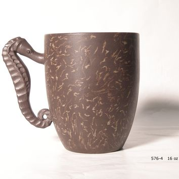 Sea Horse Clay Tea Mug - Yixing