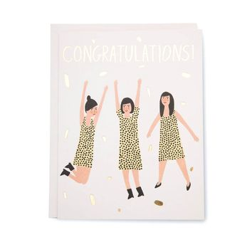 Three Women Congrats Card