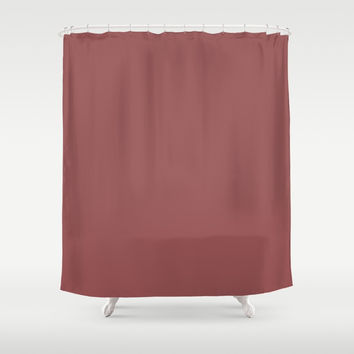 Marsala Shower Curtain by spaceandlines