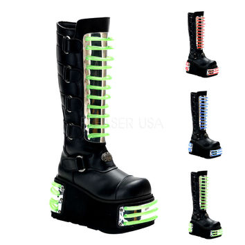 Techno 854 UV 3 Interchangeable Panels  Cyber  Platform Knee Boot