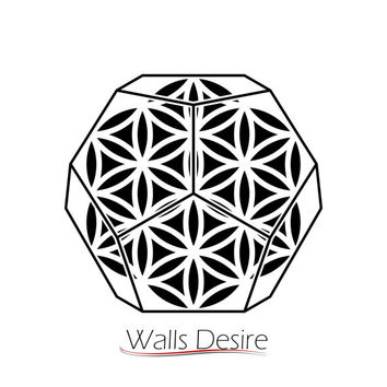 Dodecahedron Sacred Geometry, Flower Of Life Pattern, vinyl decal, J00118.