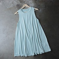 BSIC - sleeveless swingy tank dress - mint