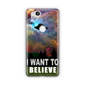 I Want To Belive X File Movie Nebula Space Google Pixel 3 Case | Casefantasy