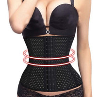 HOT Workout Waist Cincher Trainer Body Tummy Girdle Control Corset Sport Shaper Black Fajas for wedding dresses weight loss #175