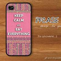 Keep calm style: Handmade Case for Iphone 4/4s , Iphone 5