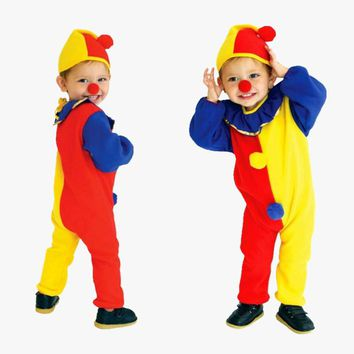 Boys Girls Clown Costume Halloween Costume For Kids Costume Cosplay Clown Clothing Children Role Play Performance Costume