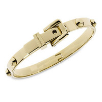 Michael Kors Bracelet, Gold-Tone Steel Buckle Bangle Bracelet - Fashion Jewelry - Jewelry & Watches - Macy's
