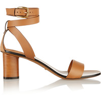 Gucci - Suede-trimmed leather sandals