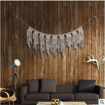 ESBONTA Pure hand-woven l-curtain tapestries home pendants Bohemian wedding decorative wall hangings decoration