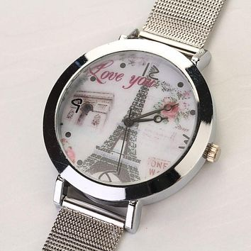 Women Eiffel Tower  Watch