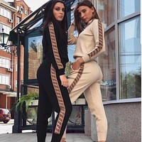 Fendi Women Hoodie Pants Two-Piece