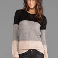 10 CROSBY DEREK LAM Crew Neck Sweater in Grey/Nude/Black from REVOLVEclothing.com