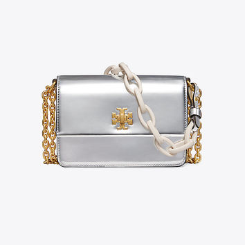 Tory Burch Kira Metallic Double-strap Mini Bag