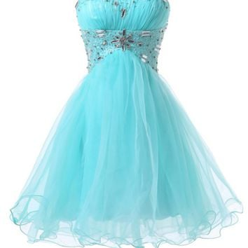 Sweetheart Beading Short Homecoming Dress