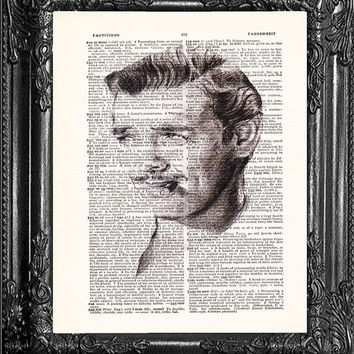 Clark Gable-Dictionary Print Vintage Book Print Page Art, Upcycled Antique Book Art,Buy 1 Get 1 Free