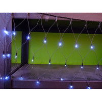 LED Net String Lights Multi-Function Glow, White, 12-feet