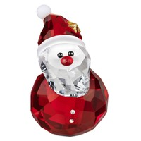 Swarovski Crystal Christmas Figurine ROCKING SANTA #1143323 New