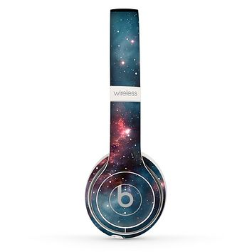 The Bright Pink Nebula Space Skin Set for the Beats by Dre Solo 2 Wireless Headphones