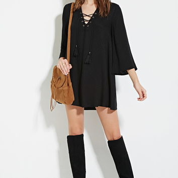 Lace-Up Mini Dress