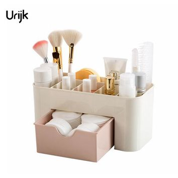 Urijk Bathroom Shelf Makeup Organizer Cosmetic Storage Box Desk Accessories Organizer for Cosmetics Drawer Boxes for Storage