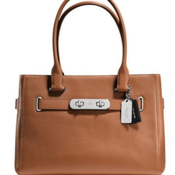 Coach Swagger Carryall in Colorblock Pebble Leather