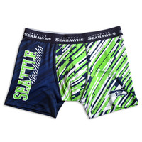 Seattle Seahawks KLEW Forever Collectibles Compression Boxer Shorts Sizes S-XXL