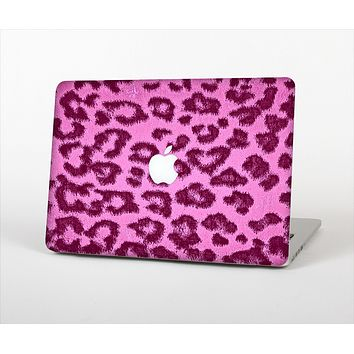 "The Neon Pink Cheetah Animal Print Skin Set for the Apple MacBook Pro 13"" with Retina Display"