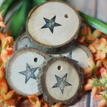 Star Ornaments, Wood Slice Ornament