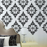 Damask Pattern 2 - Vinyl Wall Decal  - wall stickers set of 24