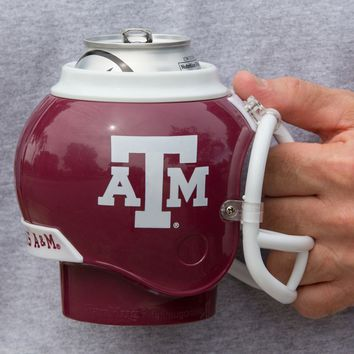 Texas A&M Aggies All in One Helmet Can & Bottle Cooler, Mug & Desk Caddy