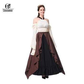 ROLECOS Vintage Long Dress for Woman Medieval Renaissance Gothic Dress Retro Victorian Sexy Costumes Party Masquerade Halloween Macchar Cosplay Catalogue