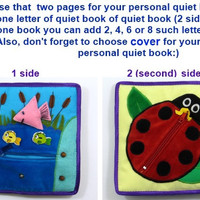 Quiet book Busy book page Activity book Soft felt book Toddler Educational fabric book Montessori book Baby quiet book Learning travel book