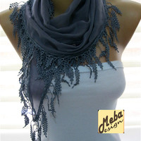 Grey scarf ,women scarves -  fashion scarf - gift scarves -Fashion accessories- for her-  gift