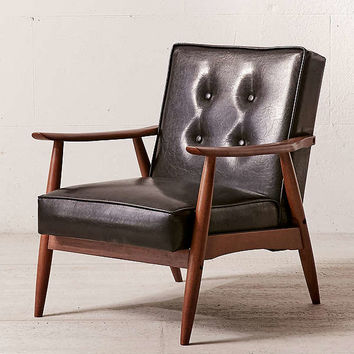 Wyatt Vegan Leather Arm Chair | Urban Outfitters