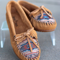 Minnetonka: The El Paso Moccasin {Taupe}